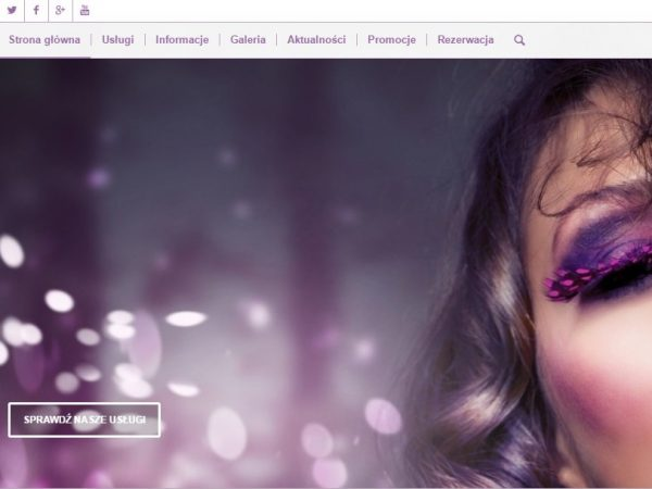 Responsywna strona salonu piękności i urody – demo45