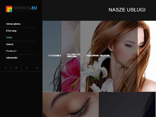 Responsywna strona salonu piękności i urody – demo47