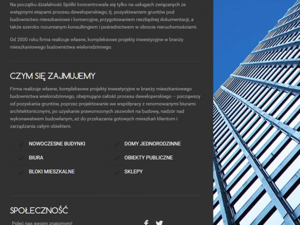 Responsywna strona firmy architektonicznej – demo69