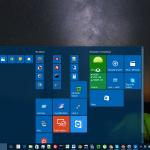 Rozwinięte menu w Windows 10