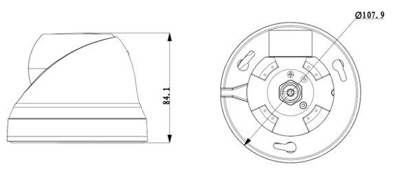 Wymiary Kamery BCS-DMIP2200AIR-B